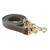 Perri's Leather Lead with Chain