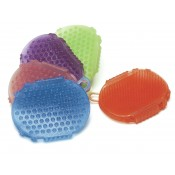 Eco Pure Rubber Jelly Glitter Two-Sided Scrubber