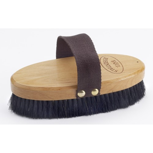 Wood Back Body Brush with Horse Hair