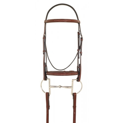 Camelot™ Fancy Raised Padded Bridle with Laced Reins