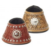 Mesquite Canyon Leather Tooled Concho No Turn Bell Boot