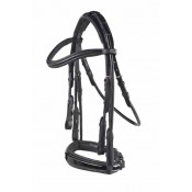 Carl Hester by PDS® Rolled Weymouth Bridle with Rubber Lined Snaffle and Flat Curb Reins