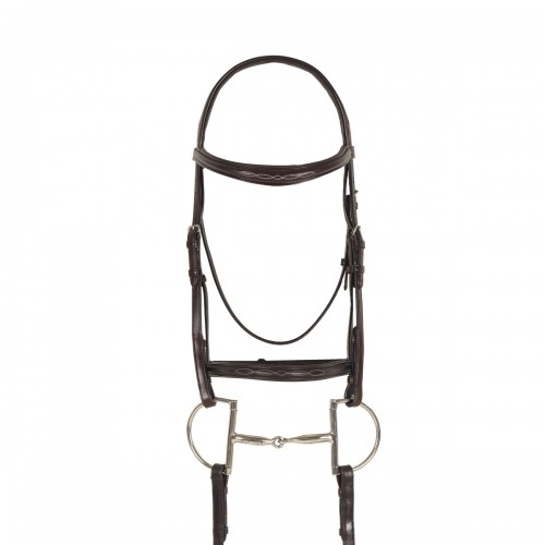Ovation® Breed Fancy Stitched Raised Padded Bridle- Draft Cross