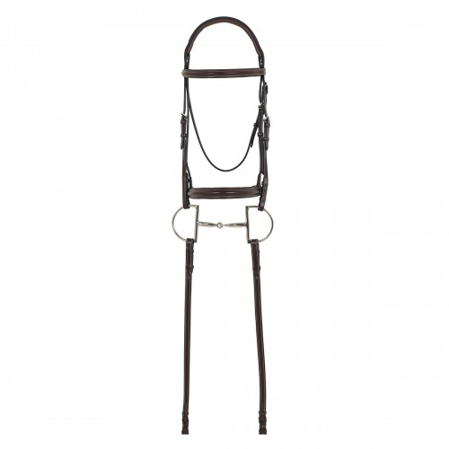 Camelot® Gold RCS™ Plain Raised Padded Bridle with Reins