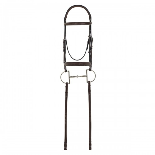 Camelot® Gold RCS™ Fancy Raised Padded Bridle with Reins