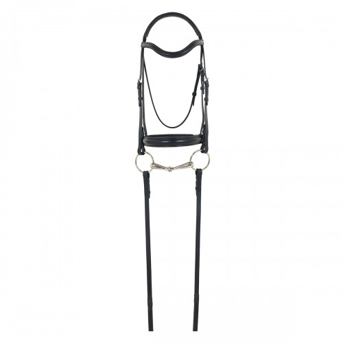 Camelot® Gold RCS™ Snaffle Dressage Bridle with Crank Noseband and Reins