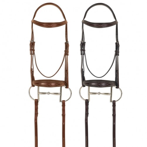 Pessoa® PRO Fancy Stitched Tapered Bridle