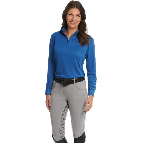 Ovation® Euro Melange X-Grip Full Seat Breech- Ladies'
