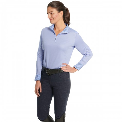 Ovation® Euro Melange X-Grip Knee Patch Breech- Ladies'
