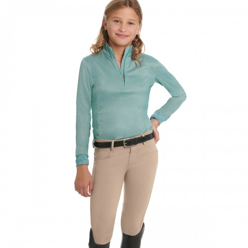 Ovation® Euro Melange X-Grip Knee Patch Breech- Child's