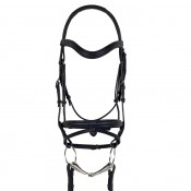 Ovation® Rosegold Dressage Bridle with Traditional Noseband and Flash