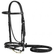 Vespucci Plain Raised Dressage Bridle