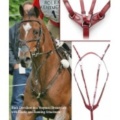 Vespucci Breastplate with Running Martingale Attachment